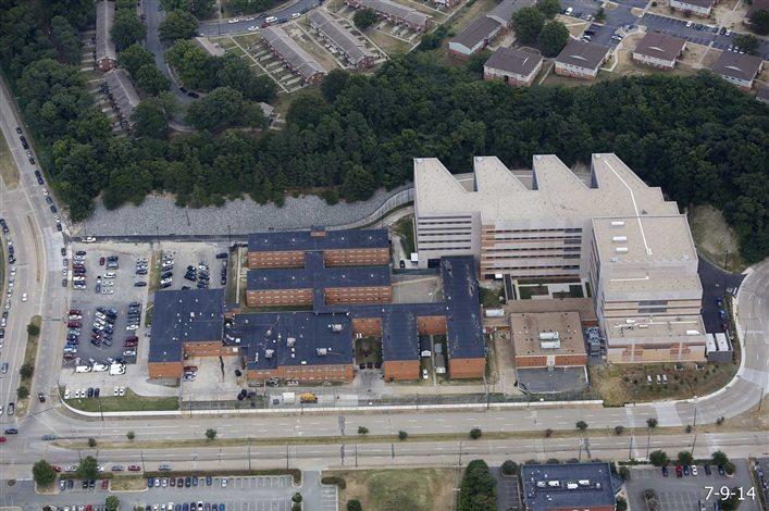Ariel view of the Richmond Justice Center complex.
