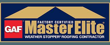 GAF Master Elite Weather Stopper Roofing Contractor Logo