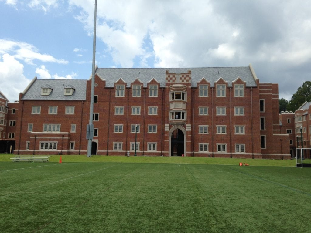 University of Richmond South Campus housing is a completed institution roofing project located in Richmond Virginia.