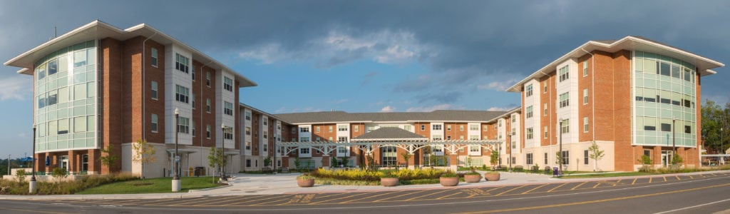 NCI commercial roofing project completed at James Madison University Grace Street Student Housing